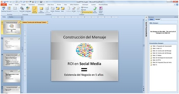 14 Compare and Merge Presentations in PowerPoint 2010