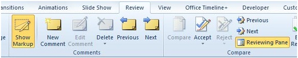 5 Compare and Merge Presentations in PowerPoint 2010